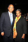 l to r: Rev. & Mrs Calvin O. Butts at The Abyssinian Baptist Church Official Kick-Off The Abyssinian Fund Benefit held at the Harlem Gate House on December 5, 2009 in Harlem, New York City..The Abyssinian Fund is committed to reducing poverty in Ethiopia by working with partner organizations, farming cooperatives and community residents to improve healthcare, education and access to clean water.