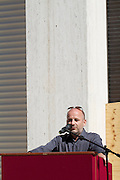 """13th Biennale of Architecture..Giardini..Austrian Pavillion..Wolfgang Tschapeller, Rens Veltman, Martin Perktold, """"hands have no tears to flow..."""", 2012..Opening ceremony..Comissioner Arno Ritter."""