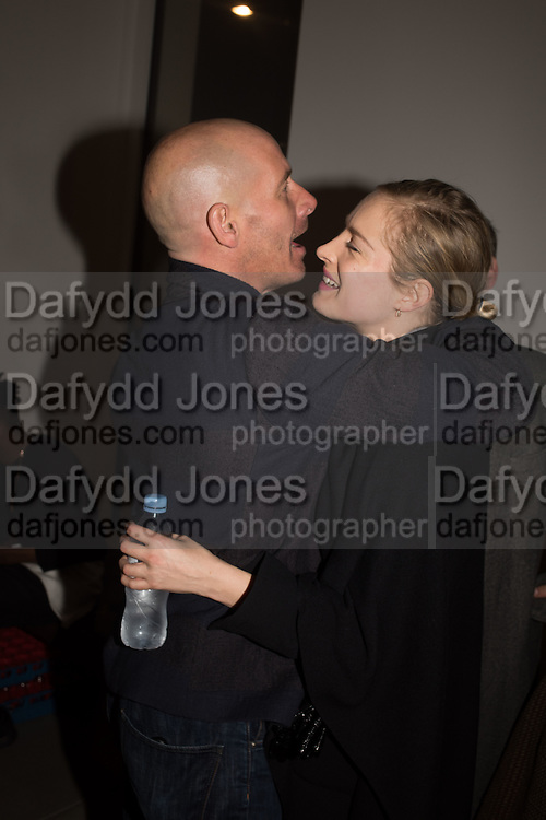 "PAUL ROWE; POLLY MORGAN, The launch of Rachel Howard's ""Humble Hanger"" -  a limited edition jewellery collaboration with True Rocks.. BlainSouthern, Hanover Sq. London. 18 November 2015"