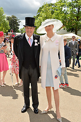 SIR NICHOLAS & LADY SOAMES at day two of the Royal Ascot 2016 Racing Festival at Ascot Racecourse, Berkshire on 15th June 2016.