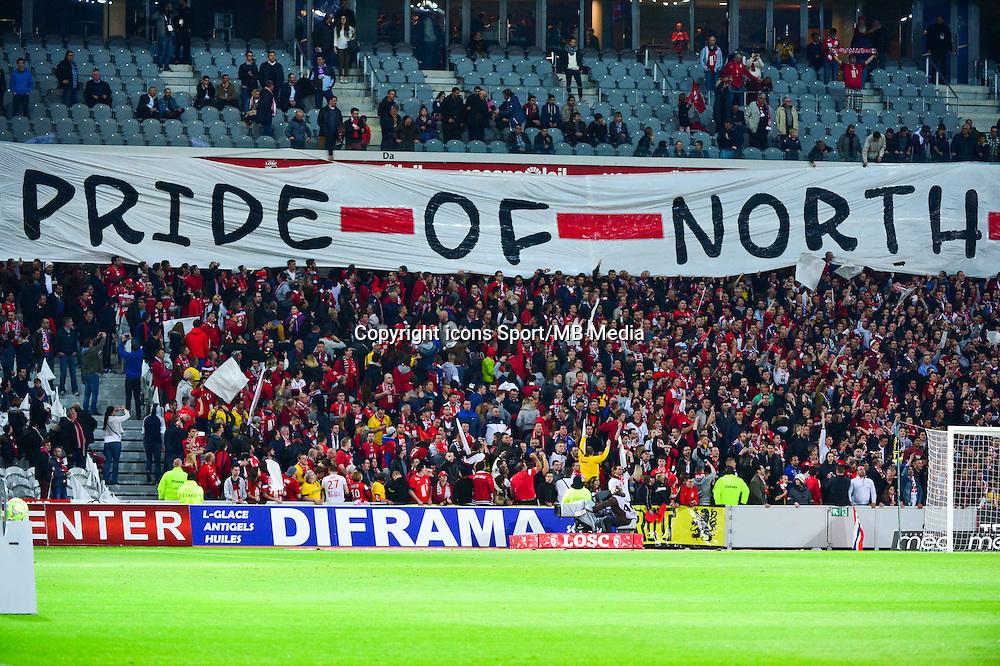 Banderole supporters Lille - 03.02.2015 - Lille / Lens - 35eme journee de Ligue 1<br />Photo : Dave Winter / Icon Sport