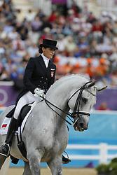 Milczarek, Katarzyna, Ekwador<br /> London - Olympische Spiele 2012<br /> <br /> Dressur Grand Prix de Dressage<br /> © www.sportfotos-lafrentz.de/Stefan Lafrentz