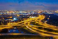 Nederland, Amsterdam, 20190326<br /> Ringweg A10 en A8 komen bijelkaar en gaan Coentunnel in .<br /> <br /> Foto (c) Michiel Wijnbergh