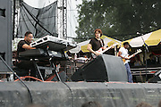 Manchester, TN, June 11, 2005; Herbie Hancock's Headhunters 2005 featuring John Mayer perform during The Bonnaroo 2005 Arts and Music Festival. Mandatory Credit: Photo by Bryan Rinnert/3 Sight Photography. (©) Copyright 2005 by Bryan Rinnert