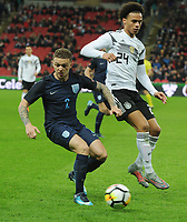 Football - 2017 / 2018 International Friendly - England vs. Germany<br /> <br /> Leroy Sane of Germany and Kieran Trippier of England at Wembley Stadium.<br /> <br /> COLORSPORT/ANDREW COWIE