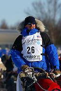 3/4/2007:  Willow, Alaska -  Veteran Scott Smith of Willow, AK in the 35th Iditarod Sled Dog Race