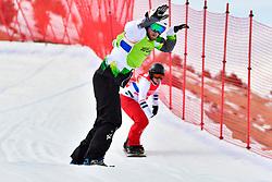 PATMORE Simon, SB-UL, AUS, MONTAGGIONI Maxime, FRA, Snowboard Cross at the WPSB_2019 Para Snowboard World Cup, La Molina, Spain