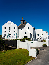 View of Lagavulin Distillery on island of Islay in Inner Hebrides of Scotland, UK