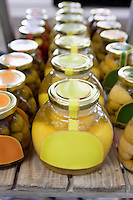 Olive oil and clarified butter preserved in jars