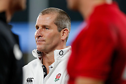 England Head Coach Stuart Lancaster looks on - Photo mandatory by-line: Rogan Thomson/JMP - 07966 386802 - 22/11/2014 - SPORT - RUGBY UNION - London, England - Twickenham Stadium - England v Samoa - QBE Autumn Internationals.