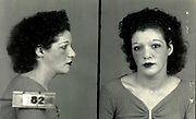 Prostitutes And Madams: Mugshots From When Montreal Was Vice Central<br /> <br /> Montreal, Canada, 1949. Le Devoir publishes a series of articles decrying lax policing and the spread of organized crime in the city. Written by campaigning lawyer Pacifique &lsquo;Pax&rsquo; Plante (1907 &ndash; 1976) and journalist G&eacute;rard Filion, the polemics vow to expose and root out corrupt officials.<br /> <br /> With Jean Drapeau, Plante takes part in the Caron Inquiry, which leads to the arrest of several police officers. Caron JA&rsquo;s Commission of Inquiry into Public Morality began on September 11, 1950, and ended on April 2, 1953, after holding 335 meetings and hearing from 373 witnesses. Several police officers are sent to prison.<br /> <br /> During the sessions, hundreds of documents are filed as evidence, including a large amount of photos of places and people related to vice.  photos of brothels, gambling dens and mugshots of people who ran them, often in cahoots with the cops &ndash; prostitutes, madams, pimps, racketeers and gamblers.<br /> <br /> Photo shows: Mary Shepperd, 1940 &ndash;  arrested in connection with an investigation into prostitution.<br /> &copy;Archives de la Ville de Montr&eacute;al/Exclusivepix Media