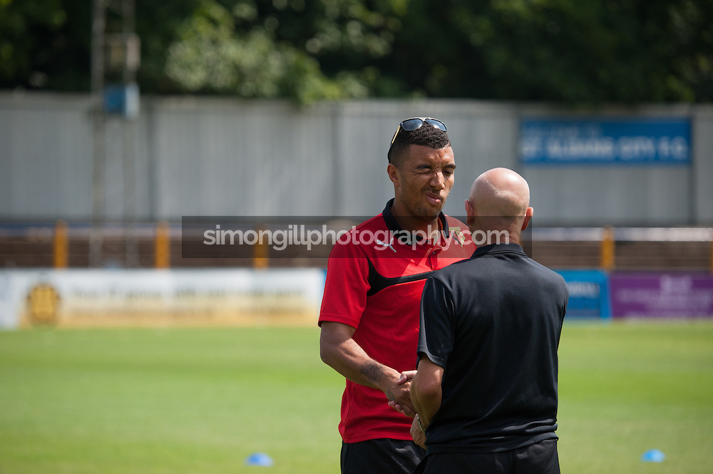 26.07.2014 St Albans, England. Pre Season Friendly between St Albans and Watford from Clarence Park.