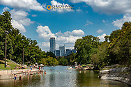 Swimming at Barton Springs Pool in Austin, Texas, USA