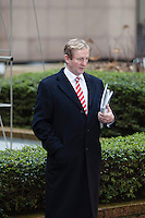 Enda Kenny  Prime minister of Ireland waits for a car leaving the  EU Budget summit at the European Council building for a break in Brussels, Friday, Feb. 8, 2013. A European Union summit to decide EU spending for the next seven years entered a second day after all-night negotiations left a standoff over spending unresolved. The leaders of the 27 nations inched toward a compromise Friday that would leave their common budget with a real-term cut for the first time in the EU's history.