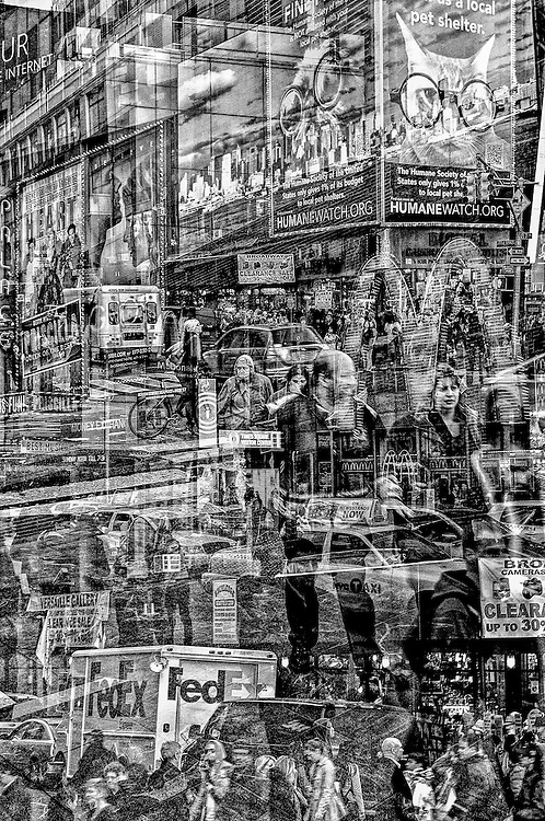 One of 12 images included in portfolio of in-camera multiple exposures selected as a winning portfolio in Black & White Magazine's 2015 Portfolio Contest which also received a Portfolio Spotlight Award.
