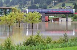 31.07.2014, B165, Hollersbach, AUT, Hochwasser in Oesterreich, Salzburg, im Bild die Situation bei der Liftanlage bei der Panoramabahn. EXPA Pictures © 2014, PhotoCredit: EXPA/ JFK