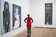 'Great Britain' 1995-7 – Dumas's powerful double portrait of Princess Diana and Naomi Campbell (with Magdalena to the R) - A new exhibition of paintings by Marlene Dumas at the Tate Modern opens on 5th Feb. It is one of the most significant displays of her work ever to be held in Europe, bringing together over 100 of her most important and iconic figurative paintings from throughout her career. The three key items/sets are:  'Great Britain' – Dumas's powerful double portrait of Princess Diana and Naomi Campbell, on loan from a private collection; A group of Dumas's iconic large-scale portraits, including friends, family, figures from history and celebrities such as Amy Winehouse; 'Rejects' – a huge grid of 40 powerful black-and-white portrait paintings which Dumas has created over twenty years.