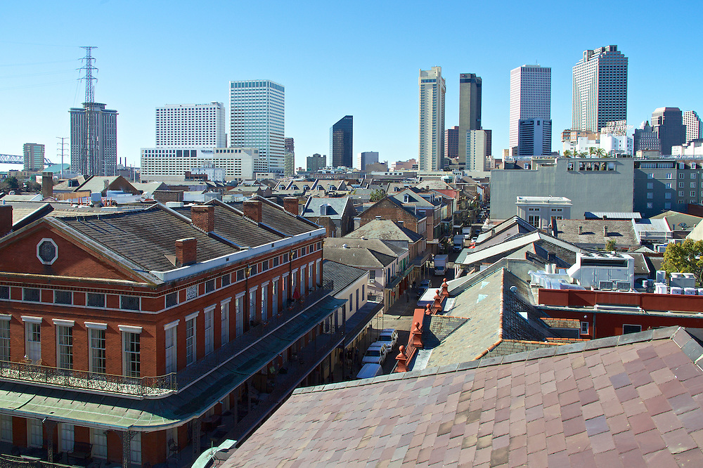 French Quarter and CBD From Cabildo, New Orleans, LA