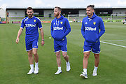 Leeds United players inspect the pitch during the Pre-Season Friendly match between Forest Green Rovers and Leeds United at the New Lawn, Forest Green, United Kingdom on 17 July 2018. Picture by Alan Franklin.