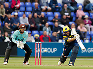 Glamorgan's David Lloyd in action today <br /> <br /> Photographer Simon King/Replay Images<br /> <br /> Vitality Blast T20 - Round 14 - Glamorgan v Surrey - Friday 17th August 2018 - Sophia Gardens - Cardiff<br /> <br /> World Copyright &copy; Replay Images . All rights reserved. info@replayimages.co.uk - http://replayimages.co.uk
