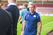 Brendan Rodgers of Leicester City (Manager) arrives at the ground during the Pre-Season Friendly match between Scunthorpe United and Leicester City at Glanford Park, Scunthorpe, England on 16 July 2019.