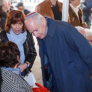 NLD/Amsterdam/20160515 - Nationaal Holocaust museum opent met schilderijen Jeroen Krabbé, ..............