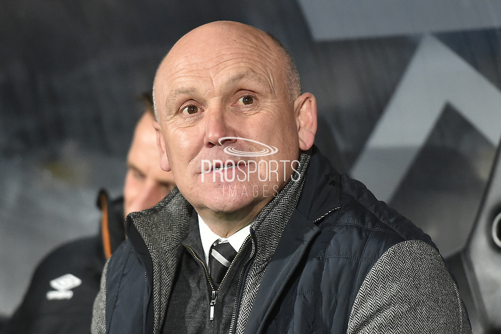 Hull City manager Mike Phelan during the Premier League match between Hull City and Everton at the KCOM Stadium, Kingston upon Hull, England on 30 December 2016. Photo by Ian Lyall.