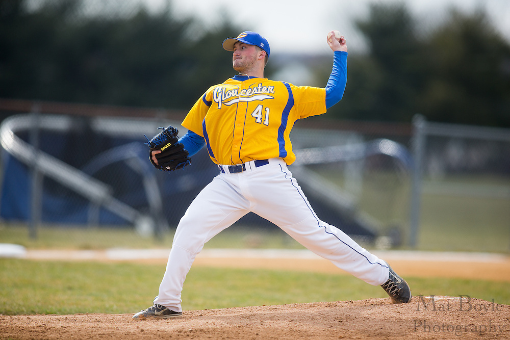 Gloucester County College Baseball Left Handed Pitcher Mike Sullivan (41) - Cape-Atlantic Community College vs. Gloucester County College at Gloucester County College in Sewell, NJ on Wednesday March 20, 2013. (photo / Mat Boyle)