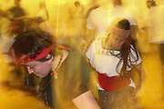 New York, New York. November 1, 2013. A member of Mexican dance group Kalpulli Atl-Tlachinolli dances at a rehearsal. 11012013. Photo by Maya Rajamani/NYCity Photo Wire