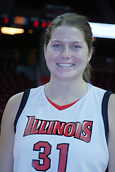 15 October 2008:  Nicole Lewis at Illinois State University Women's Basketball Media Day inside Redbird Arena in Normal Illinois.