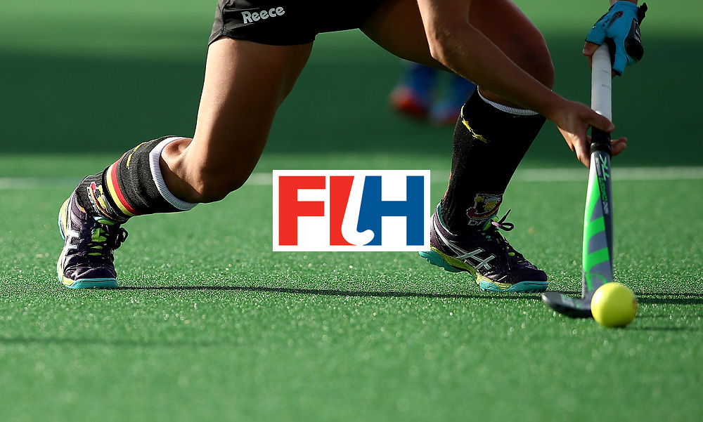JOHANNESBURG, SOUTH AFRICA - JULY 08:  Lisa Altenburg of Germany controls the ball during day 1 of the FIH Hockey World League Semi Finals Pool A match between Germany and Poland at Wits University on July 8, 2017 in Johannesburg, South Africa.  (Photo by Jan Kruger/Getty Images for FIH)