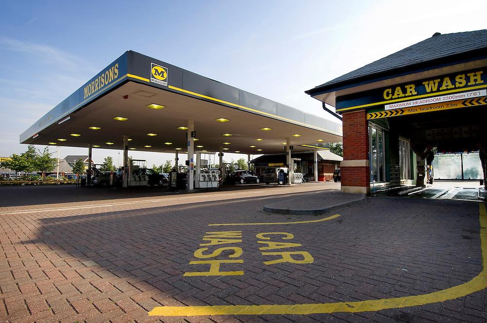 Morrisons supermarket petrol station, Gamston, Nottinghamshire, England, United Kingdom.