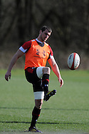 Sam Warburton of Wales in action.Wales rugby team training and press conference at the Vale, Hensol near Cardiff, South Wales on Thursday 14th March 2013.  the team are training ahead of the final RBS Six nations match against England this weekend. pic by  Andrew Orchard, Andrew Orchard sports photography,