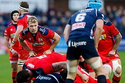 Bristol Rugby Number 8 Mitch Eadie looks on - Mandatory byline: Rogan Thomson/JMP - 19/12/2015 - RUGBY UNION - Goldington Road - Bedford, England - Bedford Blues v Bristol Rugby - B&I Cup.