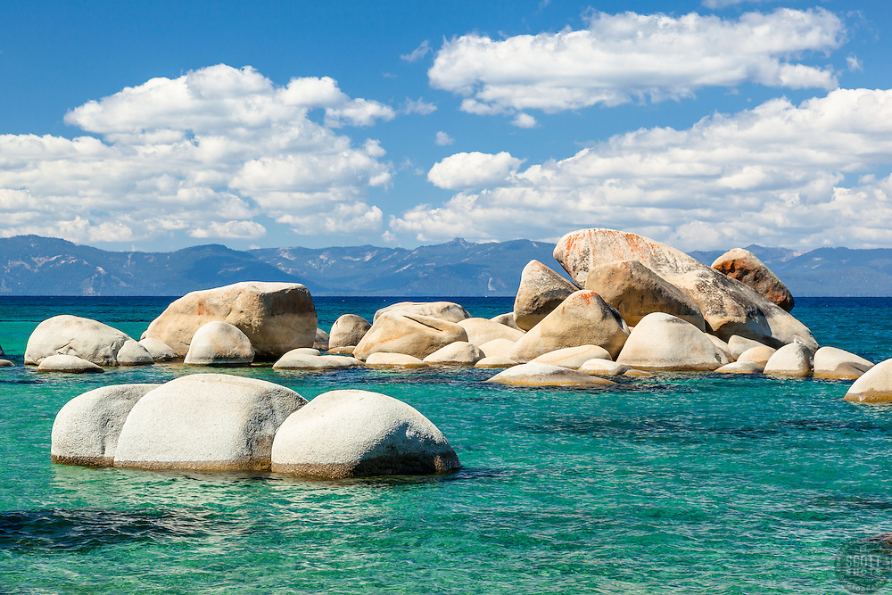 """Whale Rock, Lake Tahoe 2"" - Photograph of the famous Whale Rock on the East Shore of Lake Tahoe."