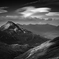 Binnein Beag and Meall a Bhuirich, The Mamores, Lochaber, Scotland.