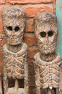 Pair of wooden figures, Patan.