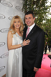 Australian award winning jewellery designer John Calleija and special guest Claudia Schiffer hosted the launch party of Calleija's new London store in the Royal Arcade, Old Bond Street, London on 24th June 2008.<br /><br />Picture shows:- John Calleija and his wife Noni Calleija.
