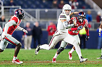 OXFORD, MS - NOVEMBER 26:  Nick Fitzgerald #7 of the Mississippi State Bulldogs runs the ball against the Mississippi Rebels at Vaught-Hemingway Stadium on November 26, 2016 in Oxford, Mississippi.  The Bulldogs defeated the Rebels 55-20.  (Photo by Wesley Hitt/Getty Images) *** Local Caption *** Nick Fitzgerald