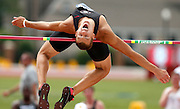 University of Georgia decathlete Maicel Uibo attempts to clear the bar on the high jump during the first day of the SEC Track and Field meet at the University of Alabama's Sam Bailey Track and Field Stadium Thursday, May 12, 2016.  Uibo tied with three other decathletes in the high jump.  Staff Photo/Gary Cosby Jr.