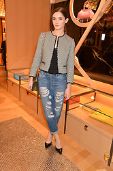 SAI BENNETT at the opening party for Moynat's new Maison de Vente in Mayfair at 112 Mount Street, London W1 on 12th March 2014.