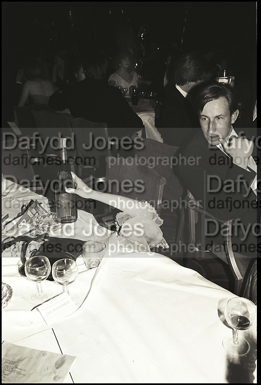 Henrietta Thompson's hand. Falklands Ball. Grosvenor House. London. 2 November 1982. Film. 82816f8<br /> <br /> © Copyright Photograph by Dafydd Jones. 66 Stockwell Park Rd. London SW9 0DA. Tel 0171 733 0108