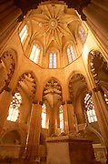PORTUGAL, ABBEY OF BATALHA the 15th century 'Founders Chapel'; octagonal star vault is a masterpiece of Gothic style architecture