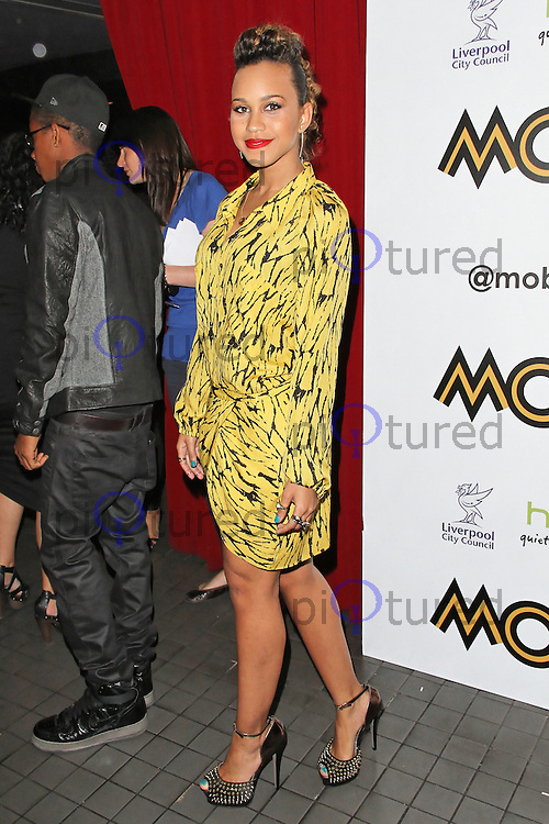 LONDON - SEPTEMBER 17: Amanda Reifer attended the Nominations Launch of the MOBO Awards at Floridita London, UK. September 17, 2012. (Photo by Richard Goldschmidt)