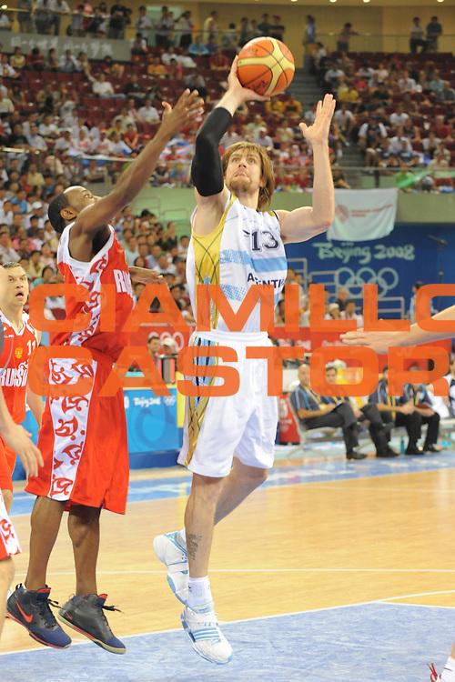 DESCRIZIONE : Beijing Pechino Olympic Games Olimpiadi 2008 Men Preliminary Round Argentina Russia<br /> GIOCATORE : Emanuel GINOBILI <br /> SQUADRA : Argentina<br /> EVENTO : Olympic Games Olimpiadi 2008<br /> GARA : Argentina Russia<br /> DATA : 18/08/2008 <br /> CATEGORIA : Tiro<br /> SPORT : Pallacanestro <br /> AUTORE : Agenzia Ciamillo-Castoria/G.Ciamillo<br /> Galleria : Beijing Pechino Olympic Games Olimpiadi 2008 <br /> Fotonotizia : Beijing Pechino Olympic Games Olimpiadi 2008 Men Preliminary Round Argentina Russia<br /> Predefinita :