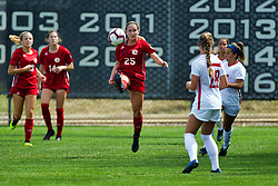 NORMAL, IL - August 10:  Ashley Guardado during a nonconference exhibition women's soccer match between the Southern Illinois Edwardsville Cougars and the Illinois State Redbirds August 10 2019 on Adelaide Street Field in Normal IL (Photo by Alan Look)