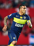 "SEVILLE, SPAIN - NOVEMBER 11:  Carlos Tevez of Boca Juniors looks on during the match between Sevilla FC vs Boca Juniors as part of the friendly match ""Trofeo Antonio Puerta"" at Ramon Sanchez Pizjuan stadium on November 11, 2016 in Seville, Spain.  (Photo by Aitor Alcalde Colomer/Getty Images)"