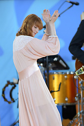 June 29, 2018 - New York, New York, U.S. - 'Florence And The Machine' performing on the Good Morning America Concert Series in Central Park in New York City. (Credit Image: © Kristin Callahan/Ace Pictures via ZUMA Press)