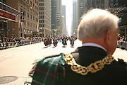 NEW YORK CITY - APRIL 9: Lord Provost of Glasgow the grand marshal of the Tartan Day Parade in New York City.