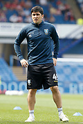 Fernando Forestieri of Sheffield Wednesday warming up for  the EFL Sky Bet Championship match between Sheffield Wednesday and Bristol City at Hillsborough, Sheffield, England on 22 April 2019.